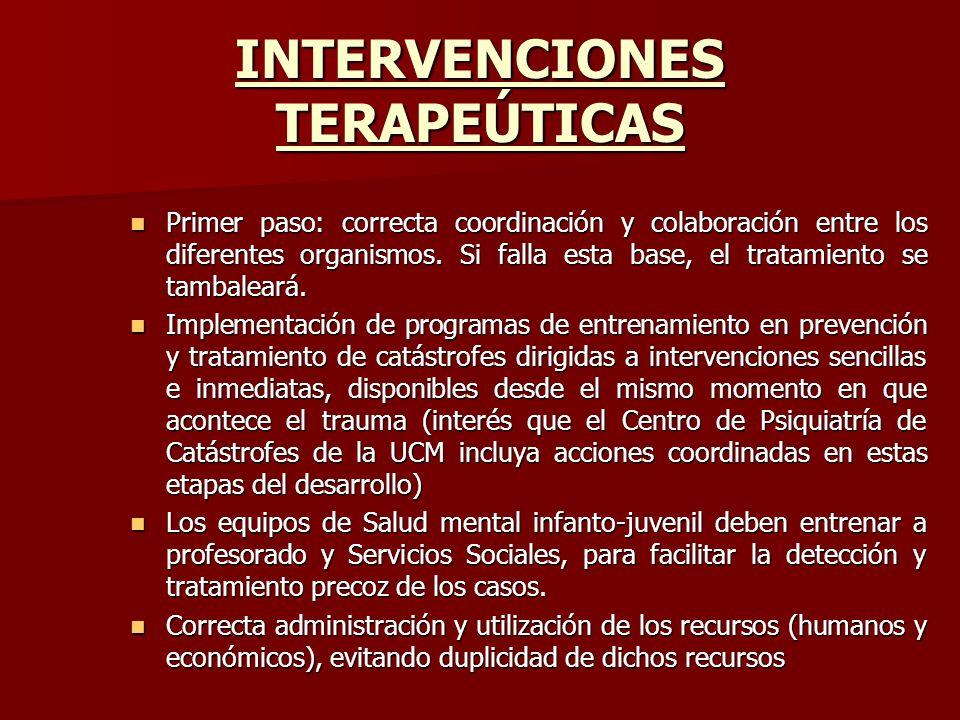 INTERVENCIONES TERAPEÚTICAS