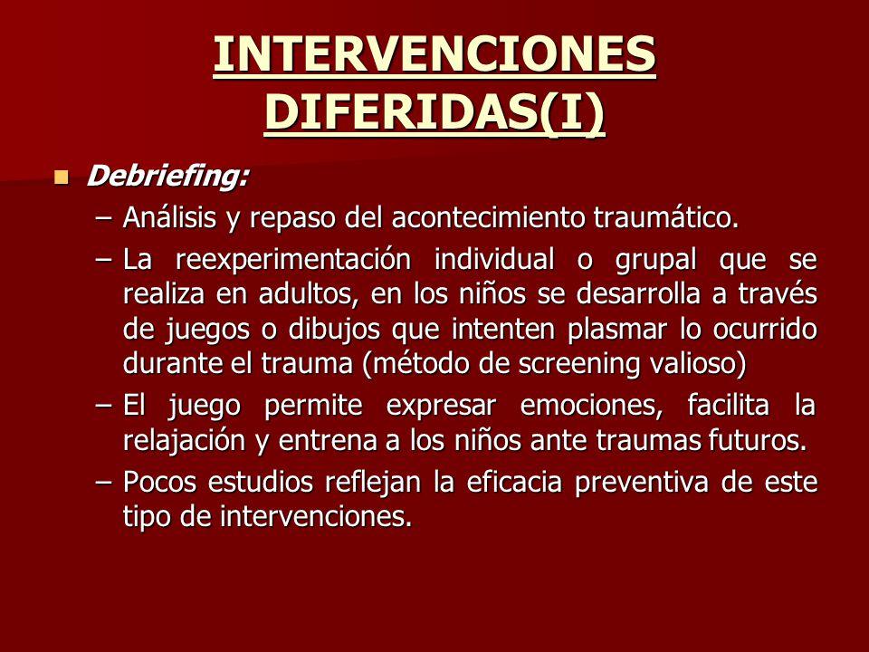 INTERVENCIONES DIFERIDAS(I)