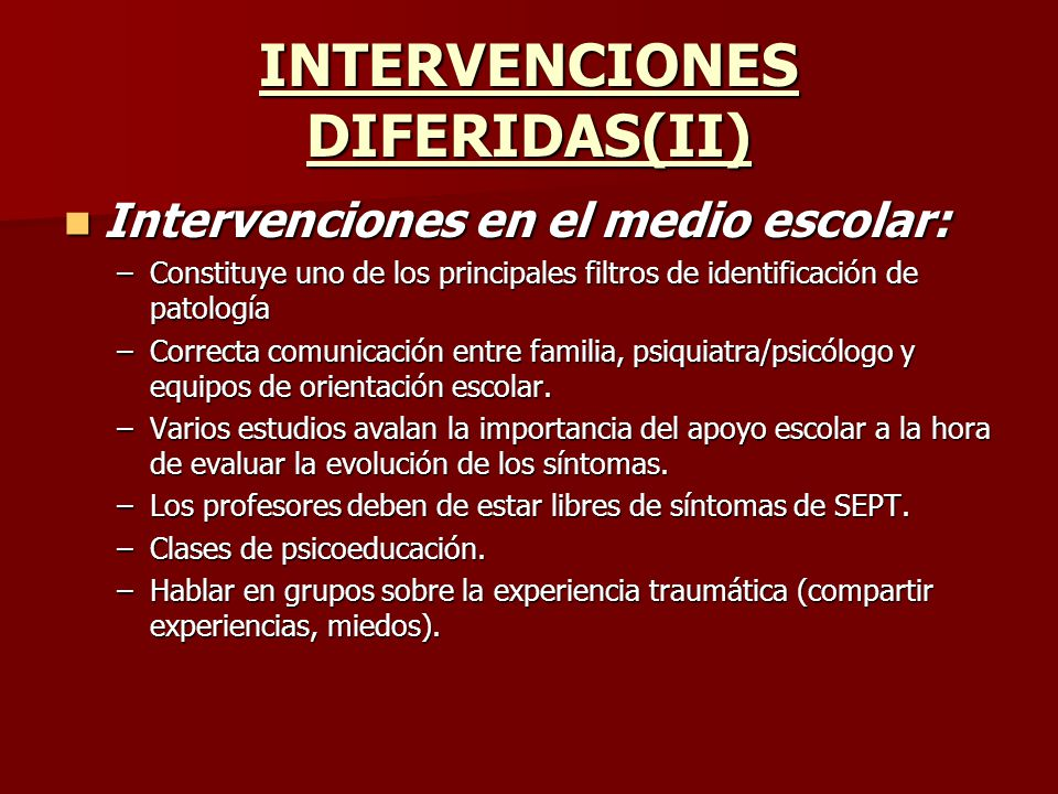INTERVENCIONES DIFERIDAS(II)