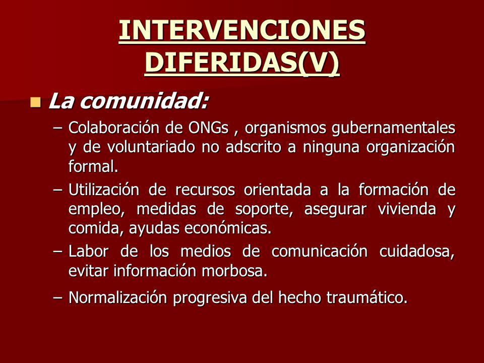 INTERVENCIONES DIFERIDAS(V)