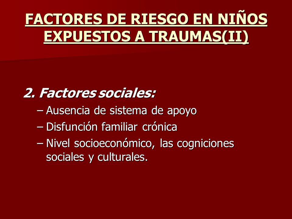 FACTORES DE RIESGO EN NIÑOS EXPUESTOS A TRAUMAS(II)
