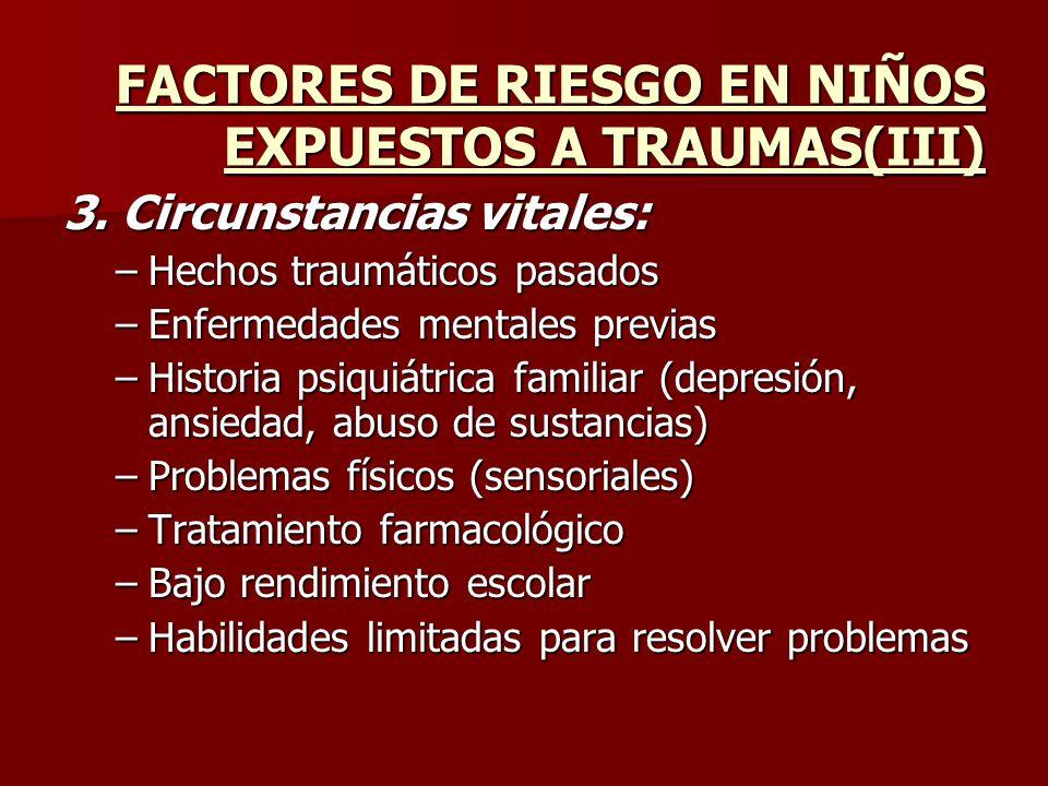 FACTORES DE RIESGO EN NIÑOS EXPUESTOS A TRAUMAS(III)