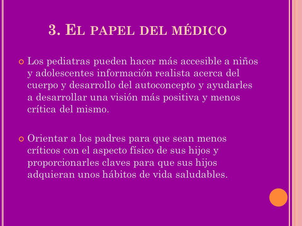 3. El papel del médico