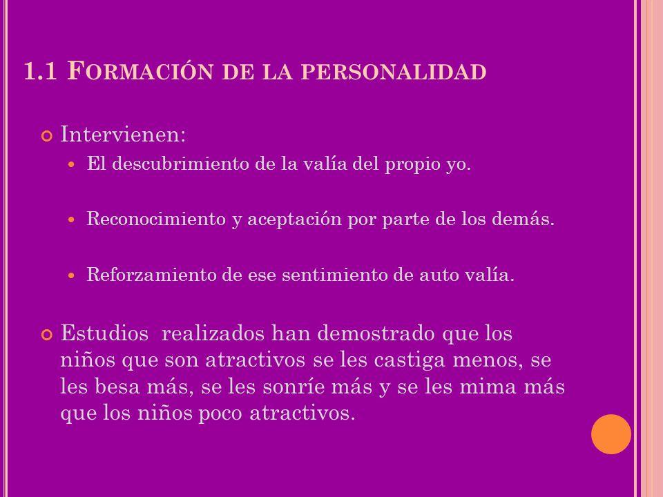 1.1 Formación de la personalidad