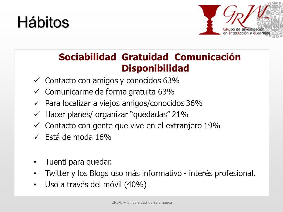 Sociabilidad Gratuidad Comunicación Disponibilidad