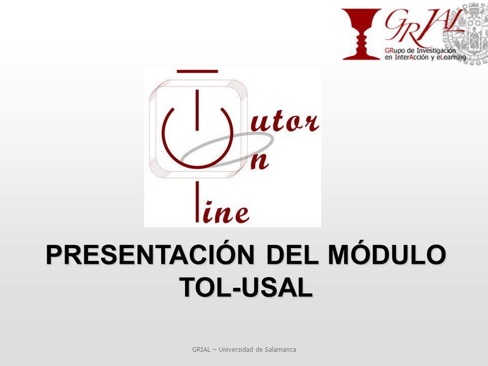 PRESENTACIÓN DEL MÓDULO TOL-USAL