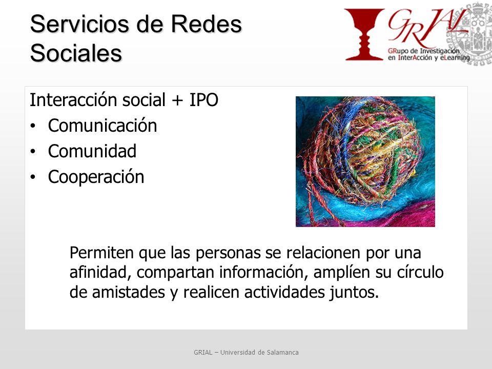Servicios de Redes Sociales