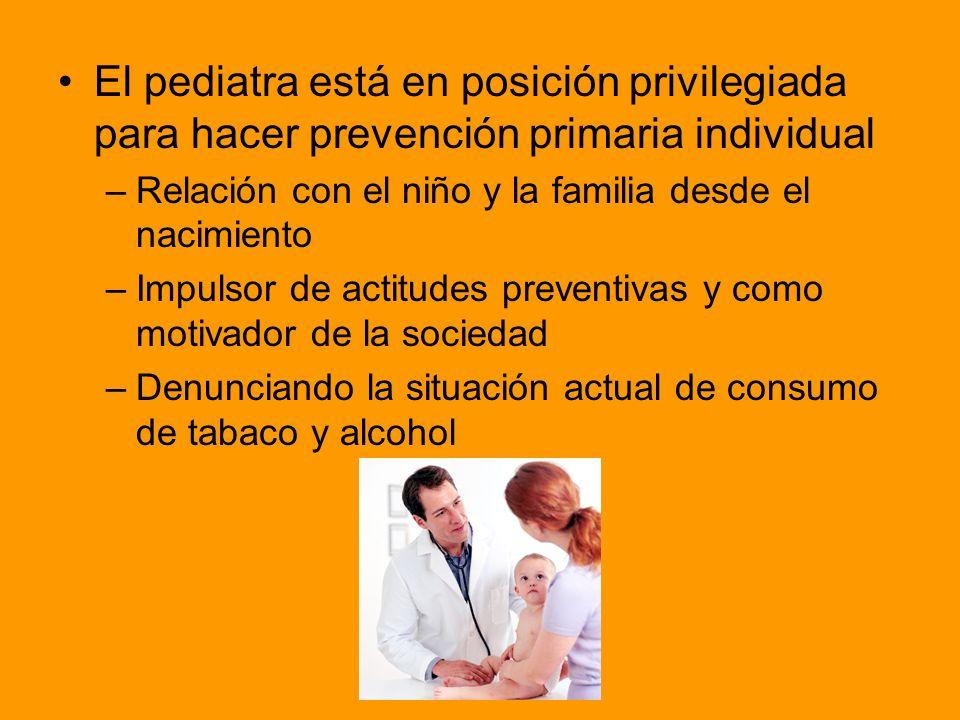 El pediatra está en posición privilegiada para hacer prevención primaria individual