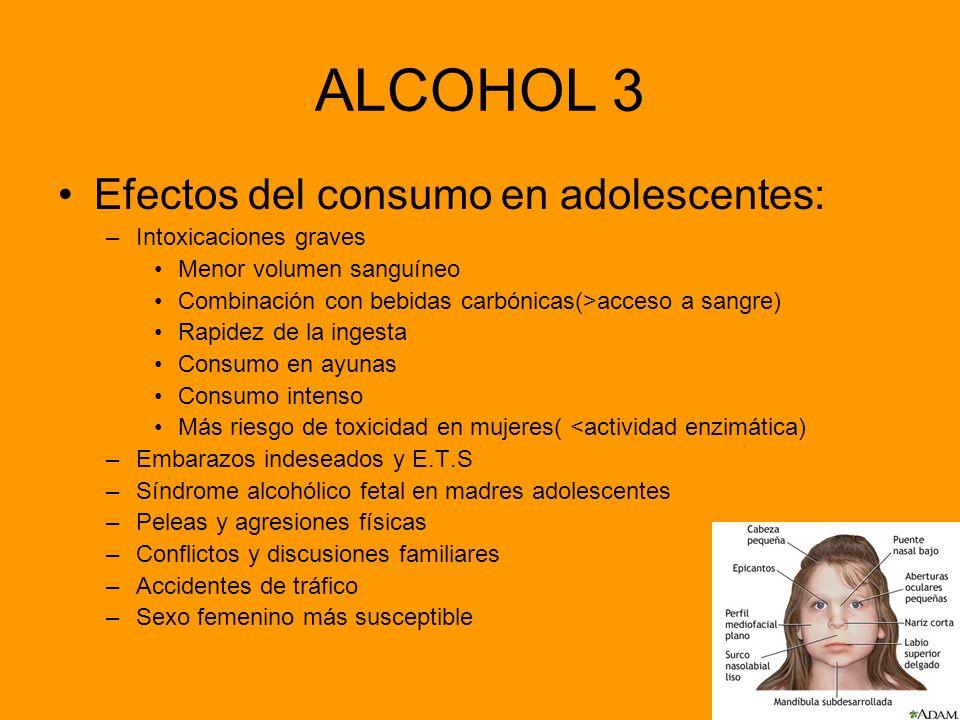 ALCOHOL 3 Efectos del consumo en adolescentes: Intoxicaciones graves