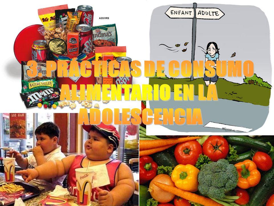 3. PRÁCTICAS DE CONSUMO ALIMENTARIO EN LA ADOLESCENCIA