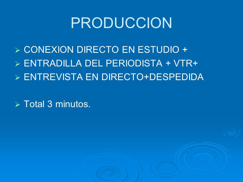PRODUCCION CONEXION DIRECTO EN ESTUDIO +