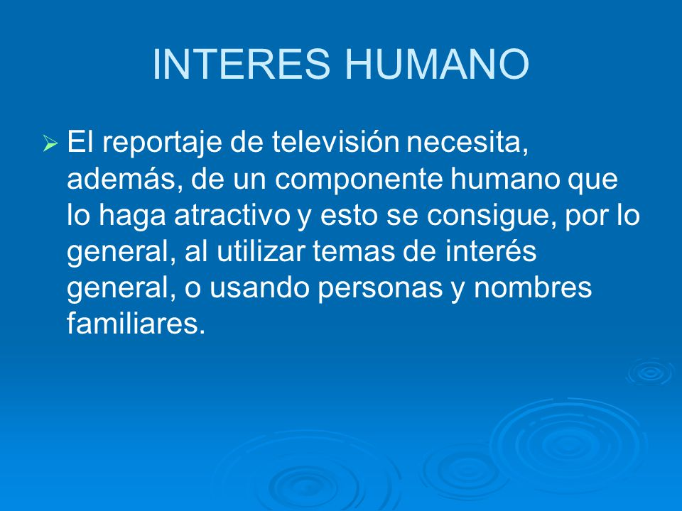 INTERES HUMANO