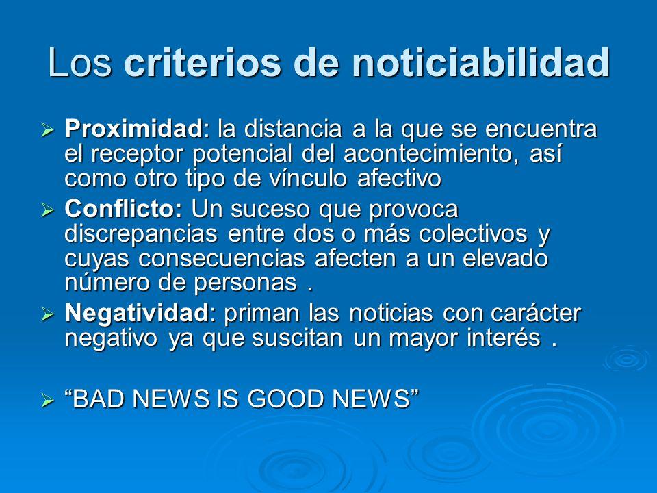 Los criterios de noticiabilidad