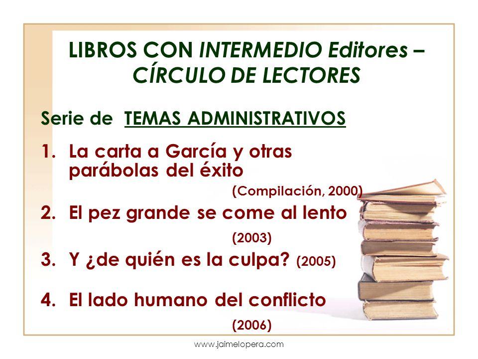 LIBROS CON INTERMEDIO Editores – CÍRCULO DE LECTORES