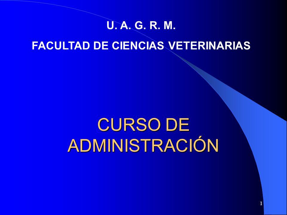 CURSO DE ADMINISTRACIÓN