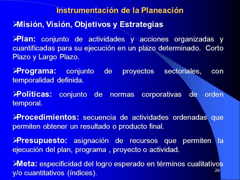 Instrumentación de la Planeación
