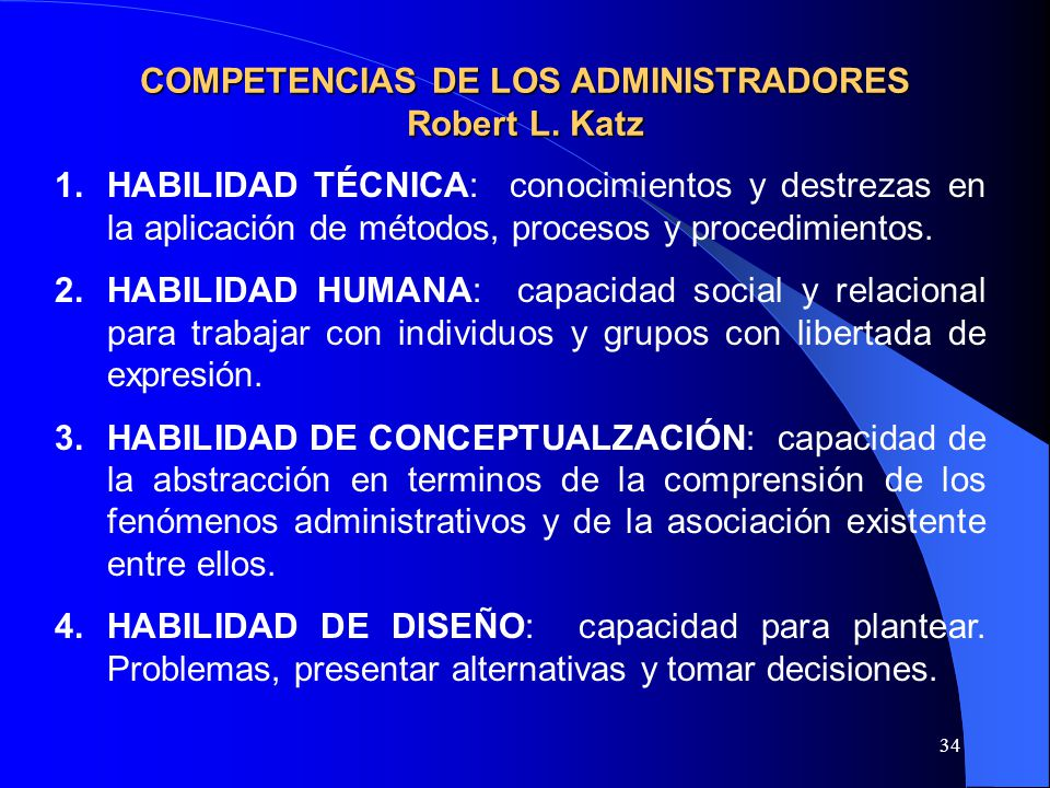 COMPETENCIAS DE LOS ADMINISTRADORES Robert L. Katz