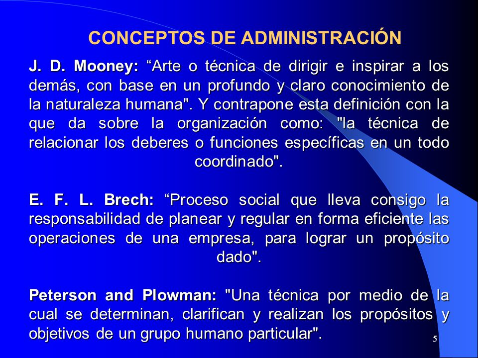 CONCEPTOS DE ADMINISTRACIÓN