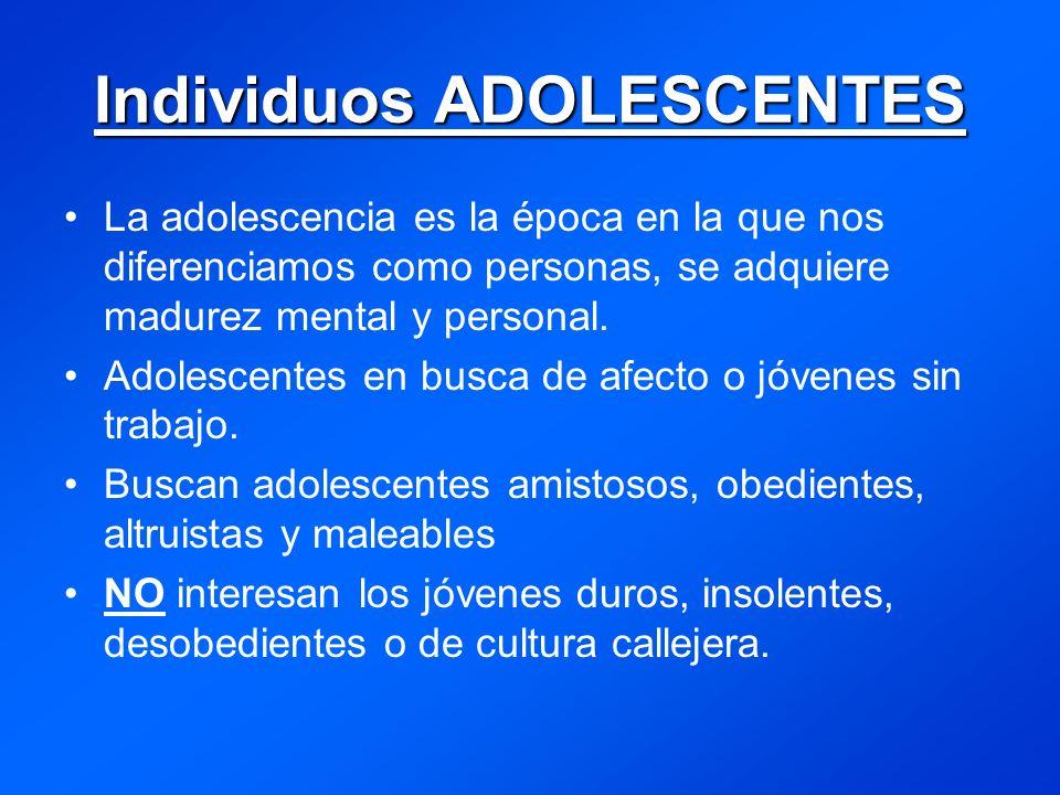 Individuos ADOLESCENTES