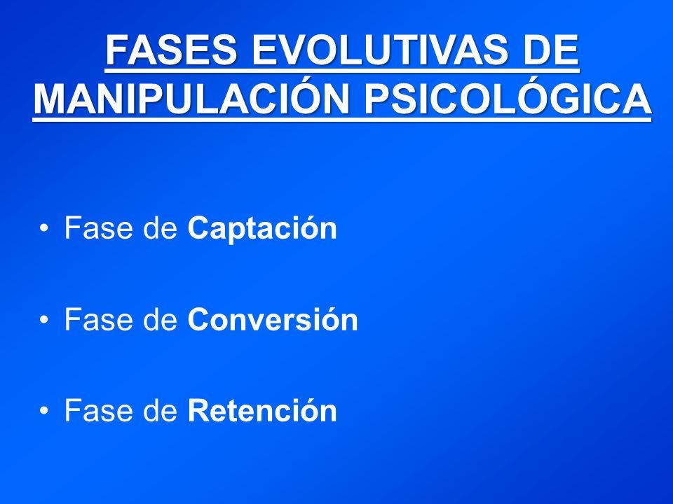 FASES EVOLUTIVAS DE MANIPULACIÓN PSICOLÓGICA