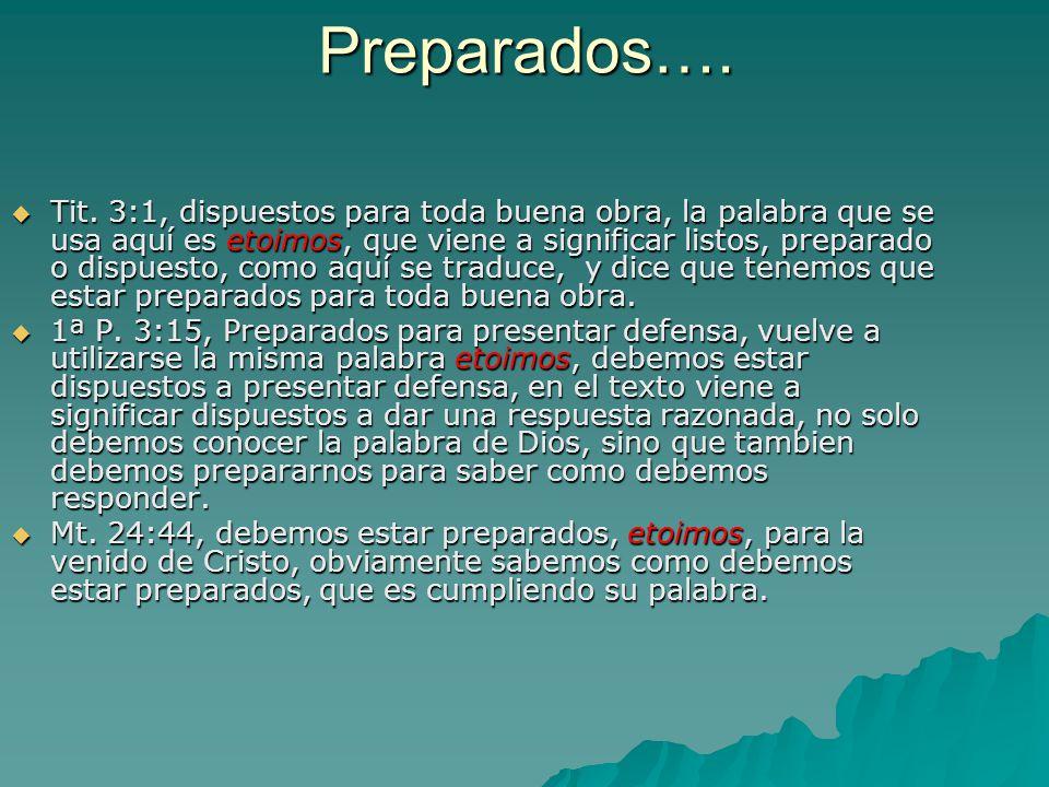 Preparados….