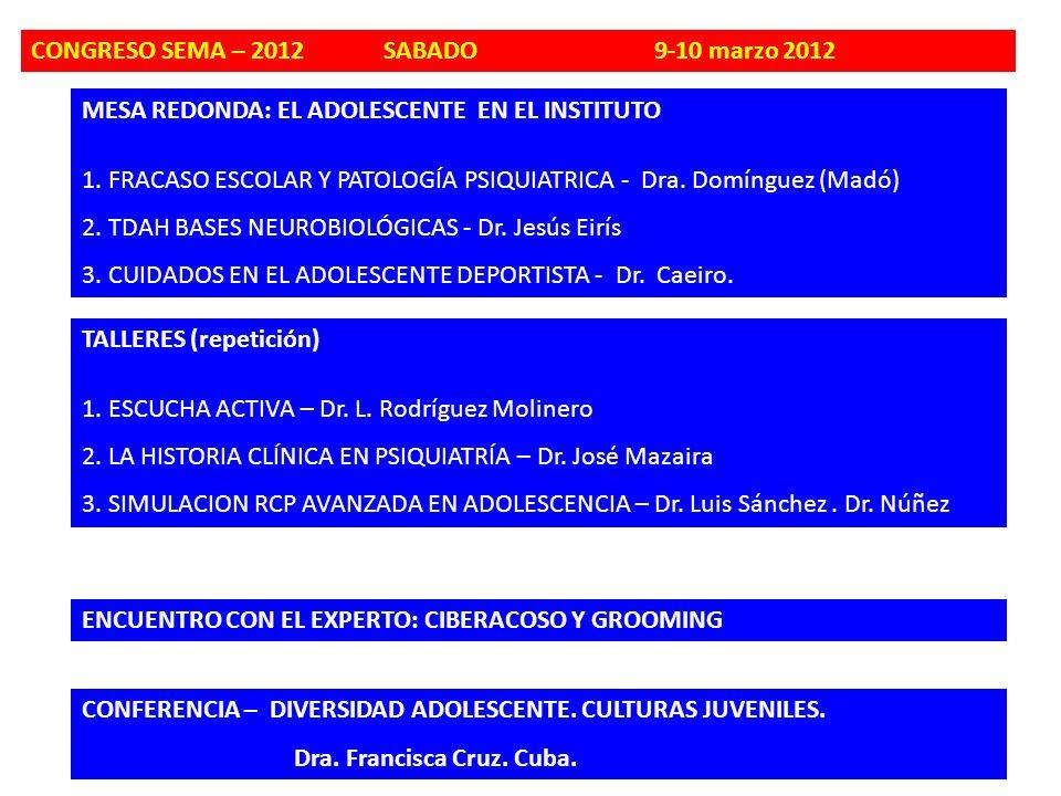 CONGRESO SEMA – 2012 SABADO 9-10 marzo 2012