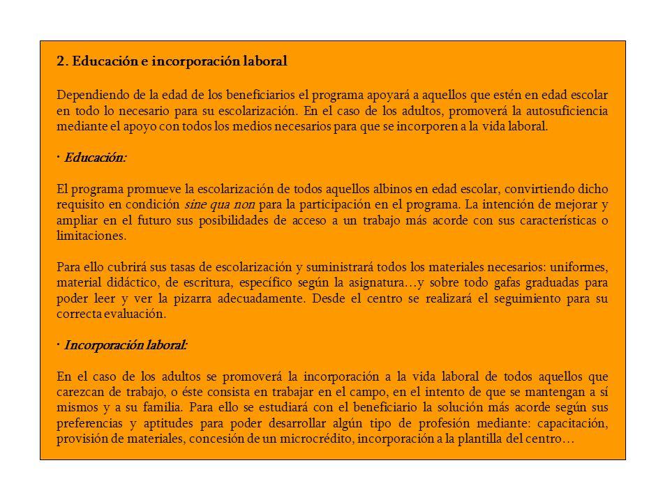 2. Educación e incorporación laboral