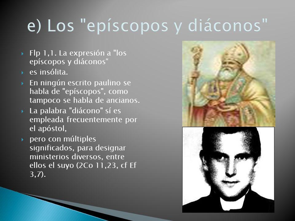 Flp 1,1. La expresión a los epíscopos y diáconos