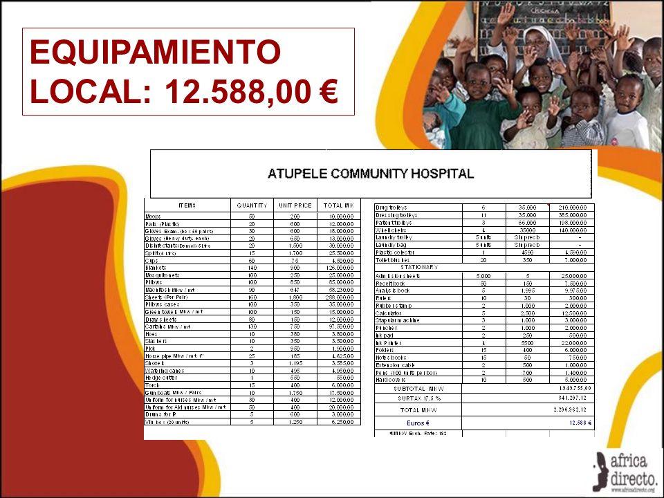 EQUIPAMIENTO LOCAL: 12.588,00 €