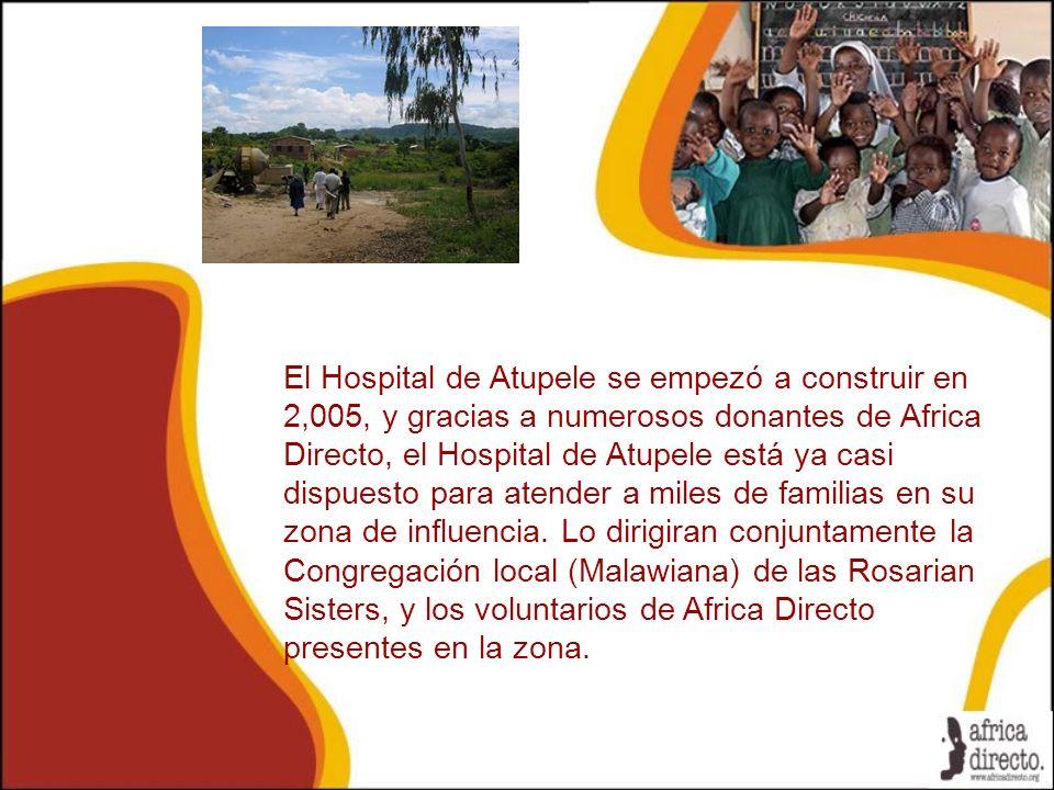 El Hospital de Atupele se empezó a construir en 2,005, y gracias a numerosos donantes de Africa Directo, el Hospital de Atupele está ya casi dispuesto para atender a miles de familias en su zona de influencia.