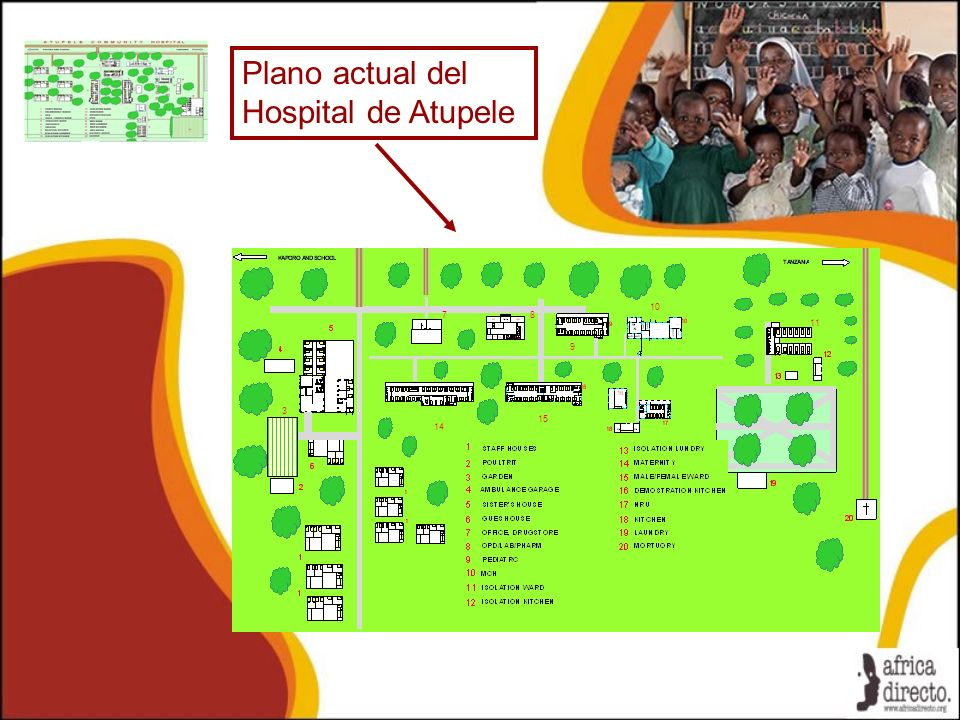 Plano actual del Hospital de Atupele