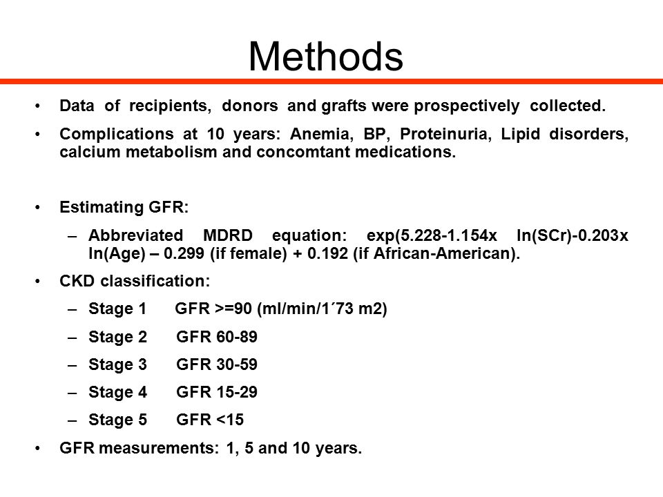 Methods Data of recipients, donors and grafts were prospectively collected.