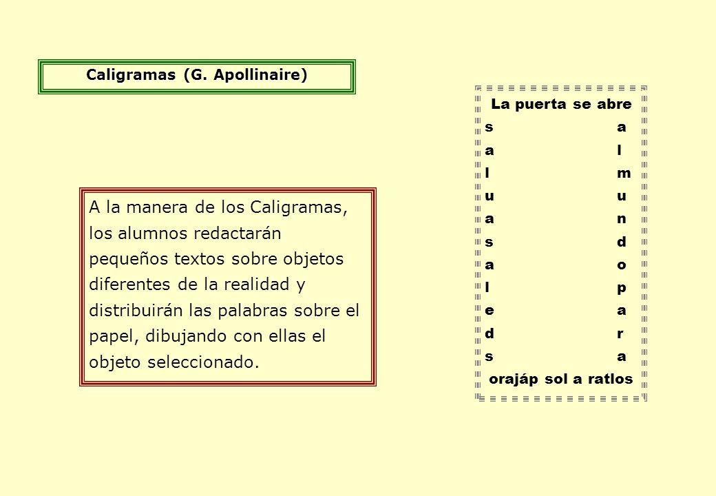 Caligramas (G. Apollinaire)