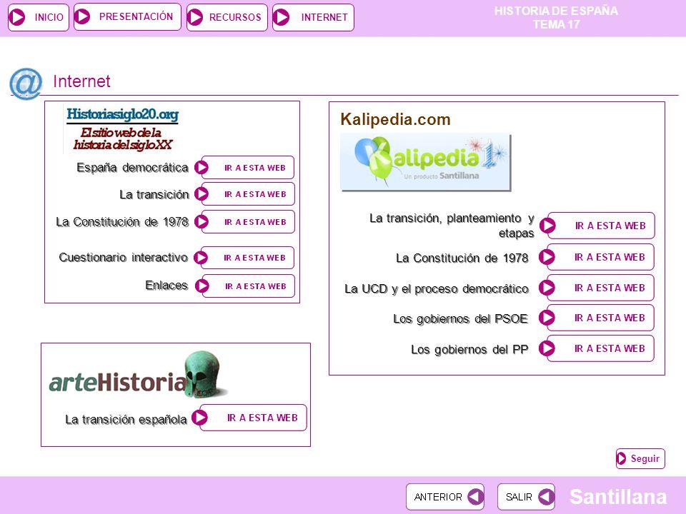 Internet Kalipedia.com España democrática La transición