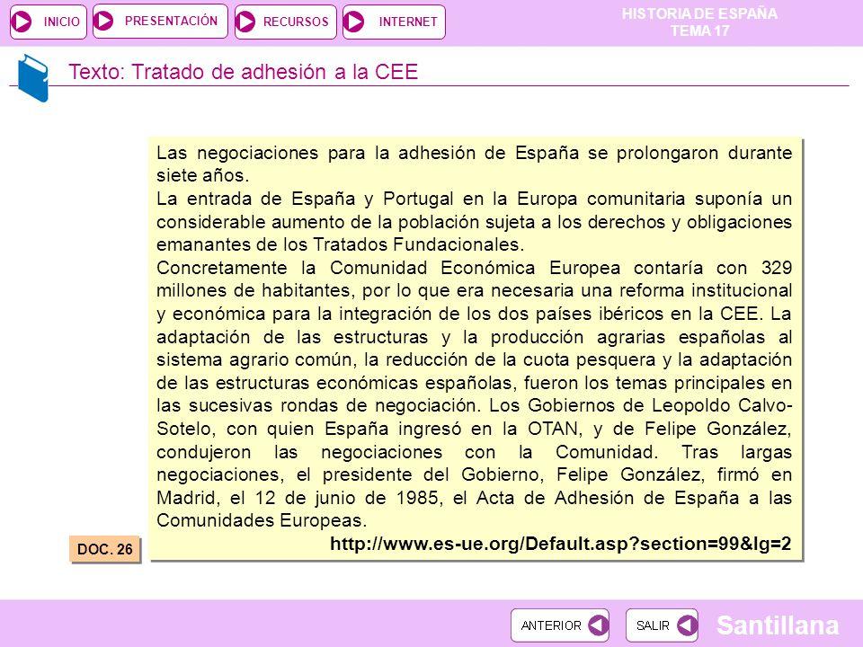 Texto: Tratado de adhesión a la CEE