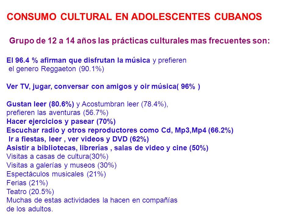 CONSUMO CULTURAL EN ADOLESCENTES CUBANOS