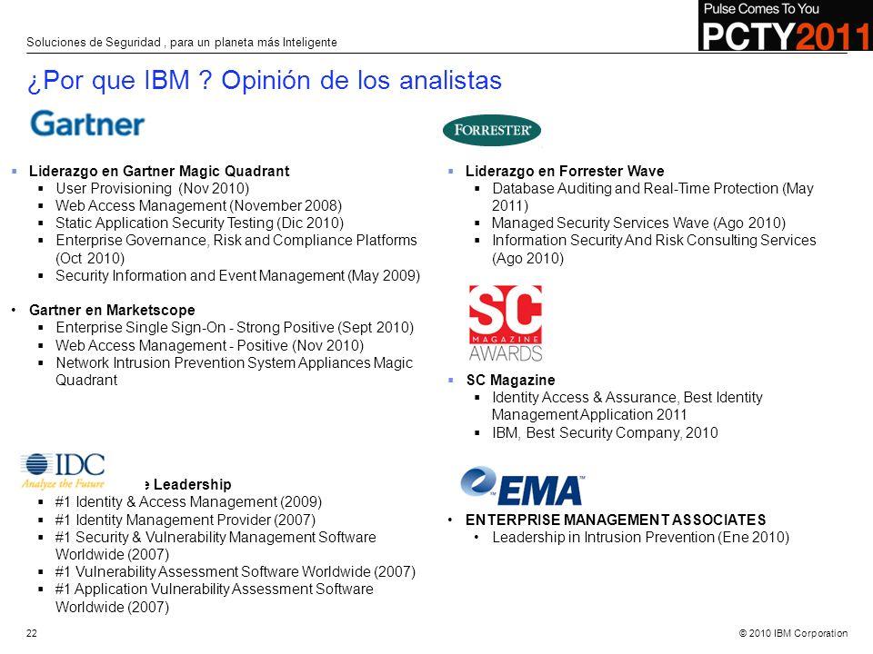 ¿Por que IBM Opinión de los analistas