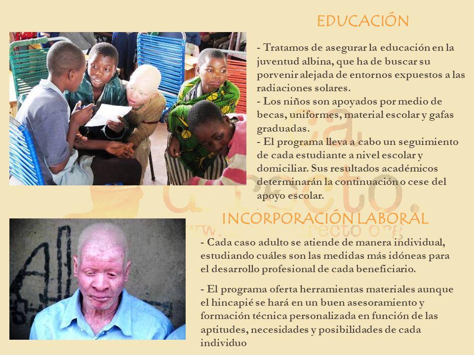 EDUCACIÓN INCORPORACIÓN LABORAL