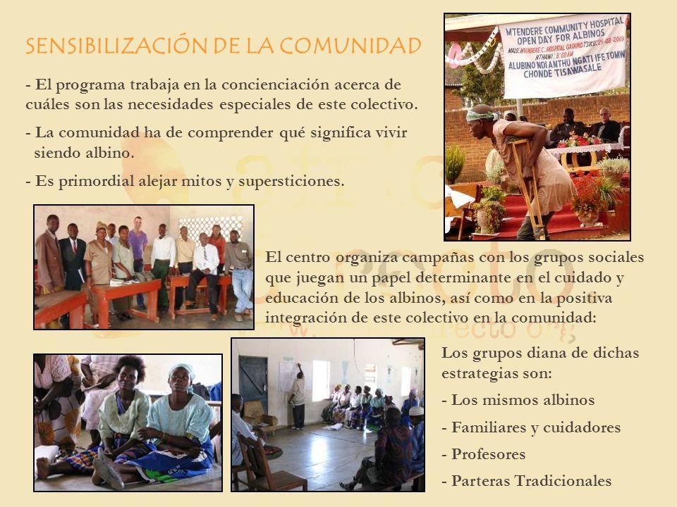 SENSIBILIZACIÓN DE LA COMUNIDAD