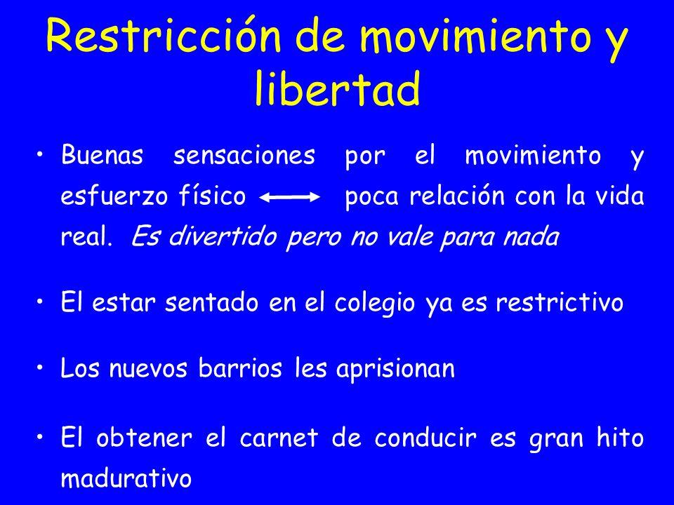 Restricción de movimiento y libertad