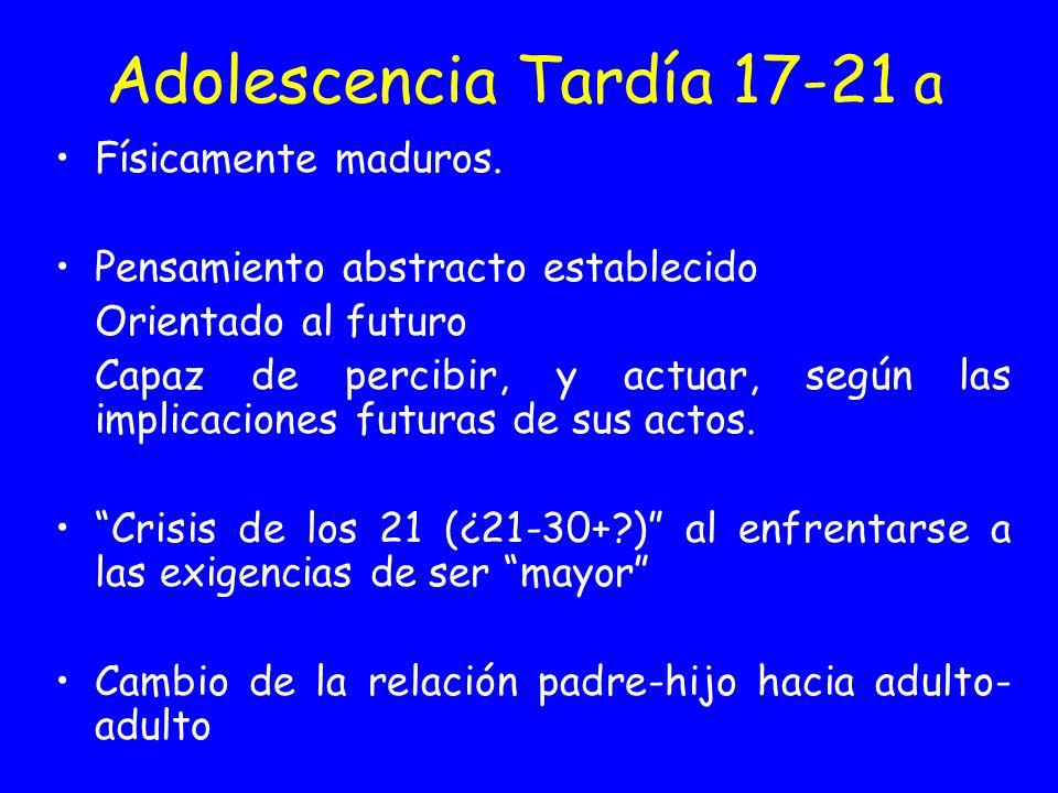 Adolescencia Tardía 17-21 a