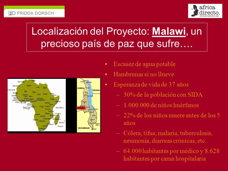 Localización del Proyecto: Malawi, un precioso país de paz que sufre….