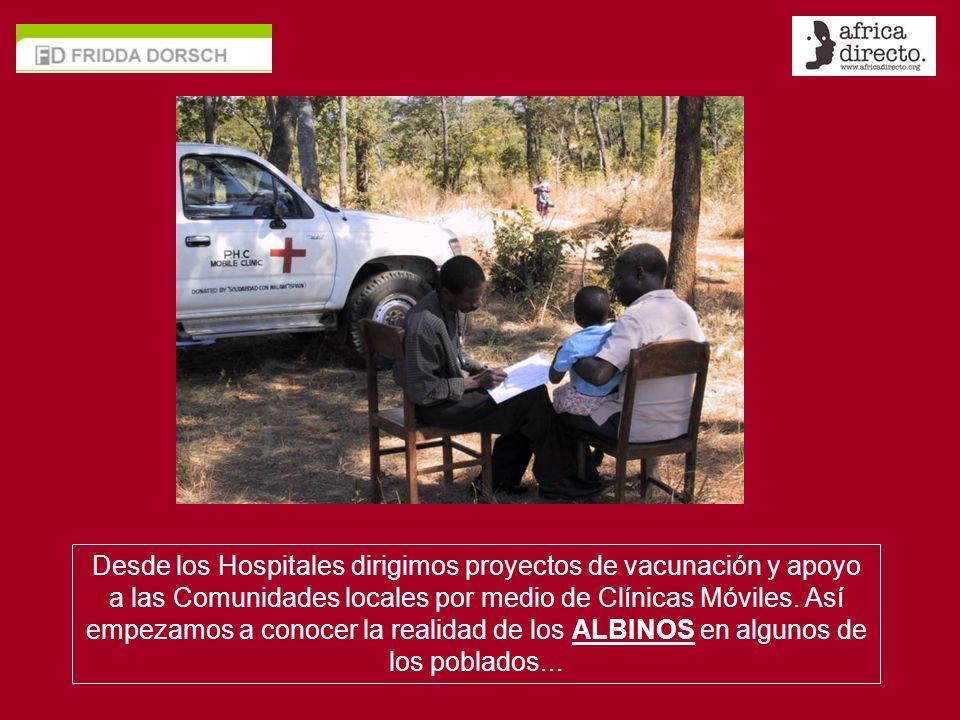 Desde los Hospitales dirigimos proyectos de vacunación y apoyo a las Comunidades locales por medio de Clínicas Móviles.