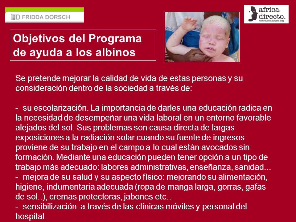 Objetivos del Programa de ayuda a los albinos