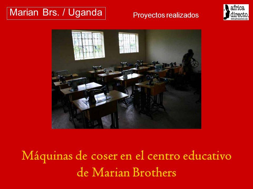 Máquinas de coser en el centro educativo de Marian Brothers