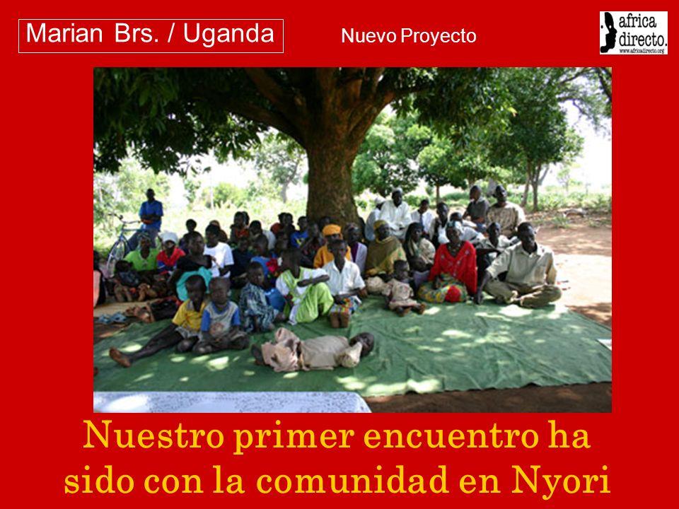 Nuestro primer encuentro ha sido con la comunidad en Nyori