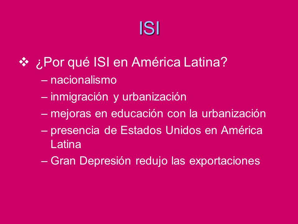 ISI ¿Por qué ISI en América Latina nacionalismo
