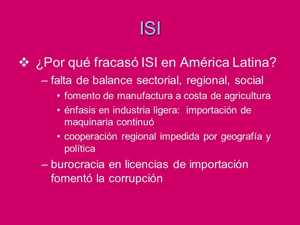 ISI ¿Por qué fracasó ISI en América Latina