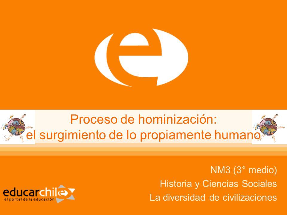 Proceso de hominización: el surgimiento de lo propiamente humano