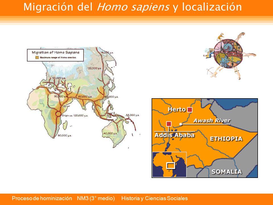 Migración del Homo sapiens y localización